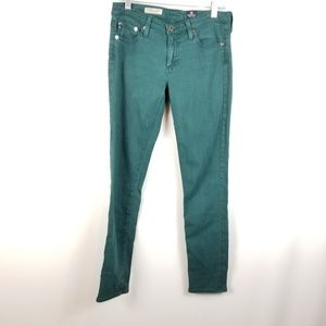 AG Adriano Goldschmied Skinny Green Jeans 26R